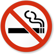 No Smoking (Symbol only) Sign