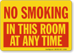 No Smoking In This Room Sign