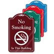 No Smoking In This Building ShowCase Sign