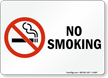 (No Smoking symbol) No Smoking Sign