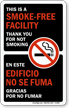 This is Smoke-Free Facility, Bilingual Window Decal
