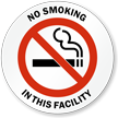 No Smoking in this Facility Window Decal