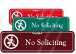 No Soliciting with Graphic ShowCase™ Wall Sign