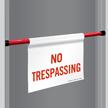 No Trespassing Door Barricade Sign