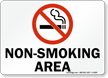 Non-Smoking Area (with symbol)