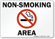 Non-Smoking Area (with symbol).