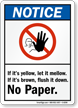 Notice No Paper Sign
