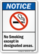 Notice No Smoking Sign