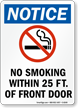Notice No Smoking Within Sign