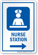 Nurse Station Area Right Arrow Sign