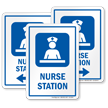 Nurse Station Care Staff Area Sign