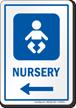 Nursery Left Arrow Hospital Sign