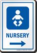 Nursery Right Arrow Hospital Sign
