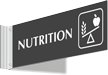 Nutrition Corridor Projecting Sign