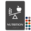 Nutrition TactileTouch Braille Sign with Balanced Diet Symbol
