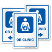OB Clinic Obstetrician Hospital Sign