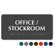 Braille Tactile Touch Office Stockroom Sign
