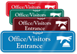 Office/Visitors Entrance Showcase Wall Sign