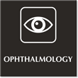 Ophthalmology Engraved Hospital Sign with Eye Symbol