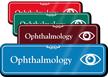 Ophthalmology Showcase Hospital Sign With Eye Symbol