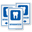 Orthodontistry Hospital Sign with Tooth Symbol