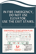 In Case of Fire - Use Stairs Sign