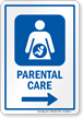Parental Care Right Arrow Hospital Sign