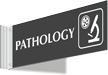 Pathology Corridor Projecting Sign