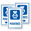 Pediatrics Child Specialists Hospital Sign with Teddy Symbol