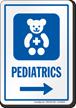 Pediatrics Right Arrow Hospital Sign