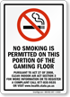 No Smoking Permitted On This Portion Sign