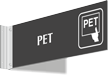 PET Corridor Projecting Sign