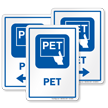 PET Hospital Sign with Positron Emission Tomography Symbol