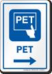 PET Right Arrow Hospital Sign