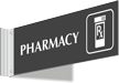 Pharmacy Corridor Projecting Sign
