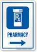 Pharmacy Symbol Sign With Right Arrow