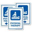 Physical Therapy Hospital Sign with Physiotherapist Symbol