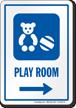 Play Room Right Arrow Hospital Sign