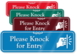 Please Knock For Entry Showcase Wall Sign