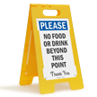 No Food-Drink Beyond This Point FloorBoss Standing Sign