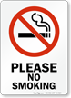 Please No Smoking (symbol) Sign