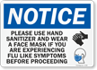 Please Use Hand Sanitizer Wear Face Mask Sign