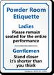 Restroom Etiquette Sign