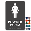 Powder Room Braille Woman Bathroom Sign