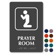 Prayer Room Symbol TactileTouch™ Sign with Braille