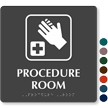 Procedure Room First Aid Symbol TactileTouch Braille Sign