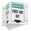Projecting Emergency Sign, 6in. x 5in.