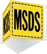 MSDS Striped Border Sign