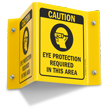 Caution Eye Protection Required (symbol) Sign