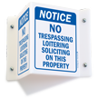 Notice No Trespassing Loitering Soliciting Sign